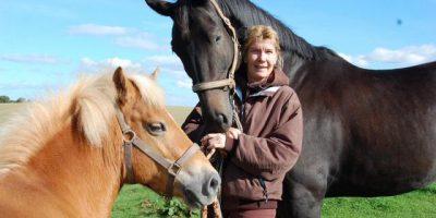 Christiane Petersen und ihre Pferde:Ein Bild aus besseren Zeiten. Foto Jessica Bunjes